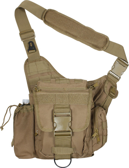 Coyote Brown Military MOLLE Advanced Tactical Shoulder Bag 16c94919dff