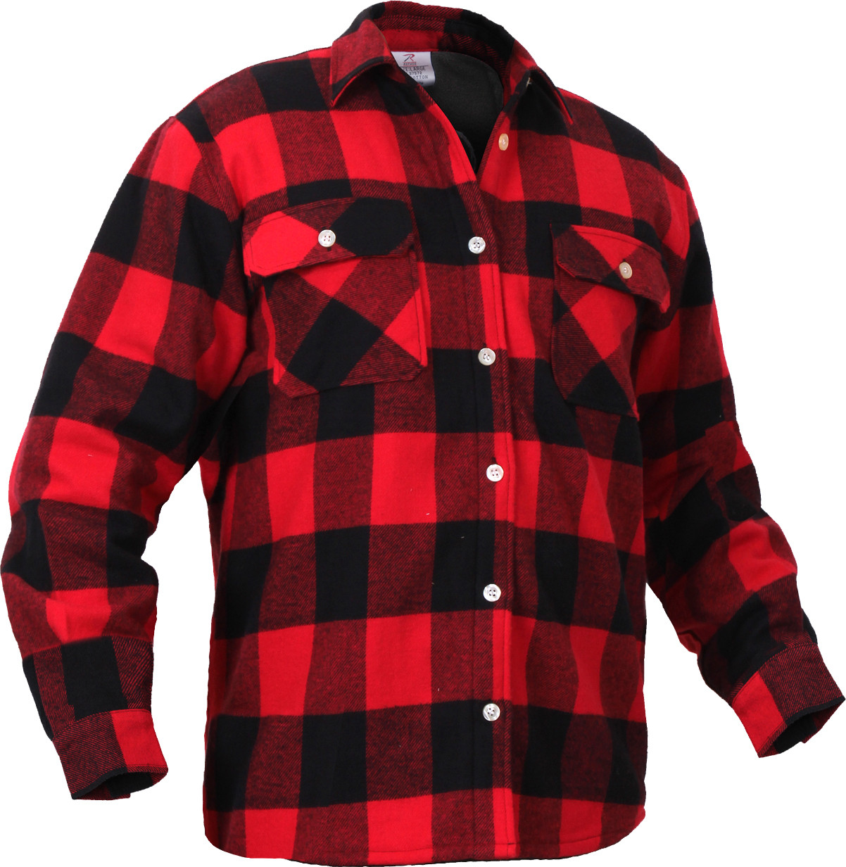 More Views. Red Extra Heavyweight Brawny Buffalo Plaid Fleece Lined Flannel  Shirt ... bb26741688f