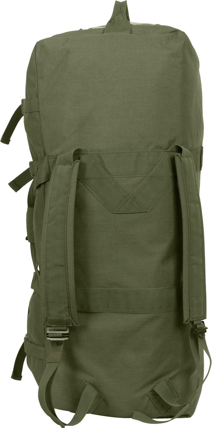 Olive Drab Enhanced Large Military Nylon Duffle Bag w  Backpack Straps a894e0eae28