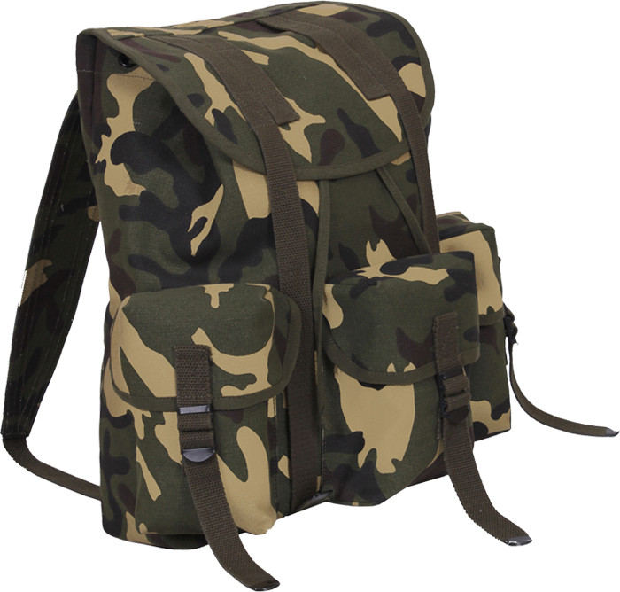 Woodland Camouflage Military Heavy Weight Canvas Mini Alice Pack ee231aae9a3