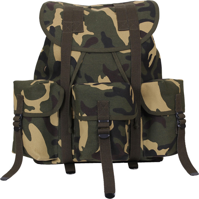 More Views. Woodland Camouflage Military Heavy Weight Canvas Mini Alice Pack  ... 556b8fd68d7
