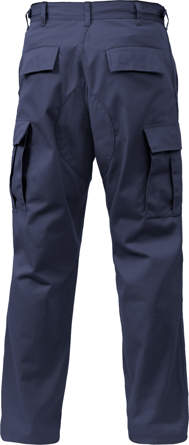 Navy Blue Relaxed Fit Zipper Fly Military Cargo Fatigue BDU Pants fcd7e440988