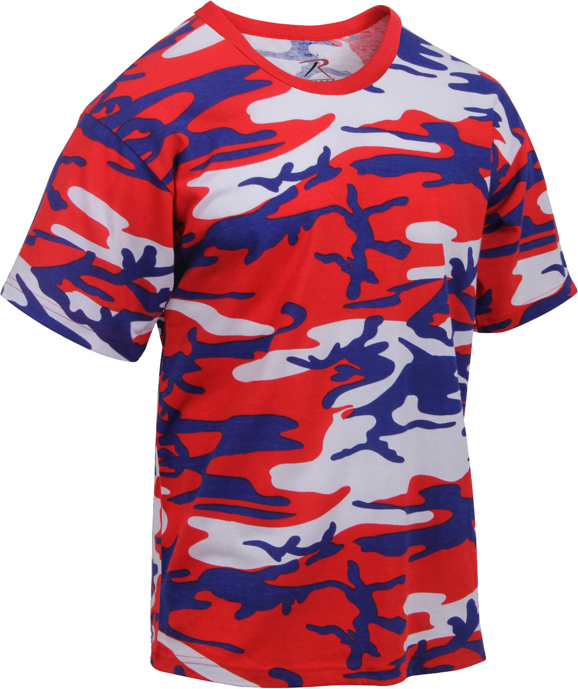 Red White Blue Camouflage Military Short Sleeve T-Shirt dafe54b319b
