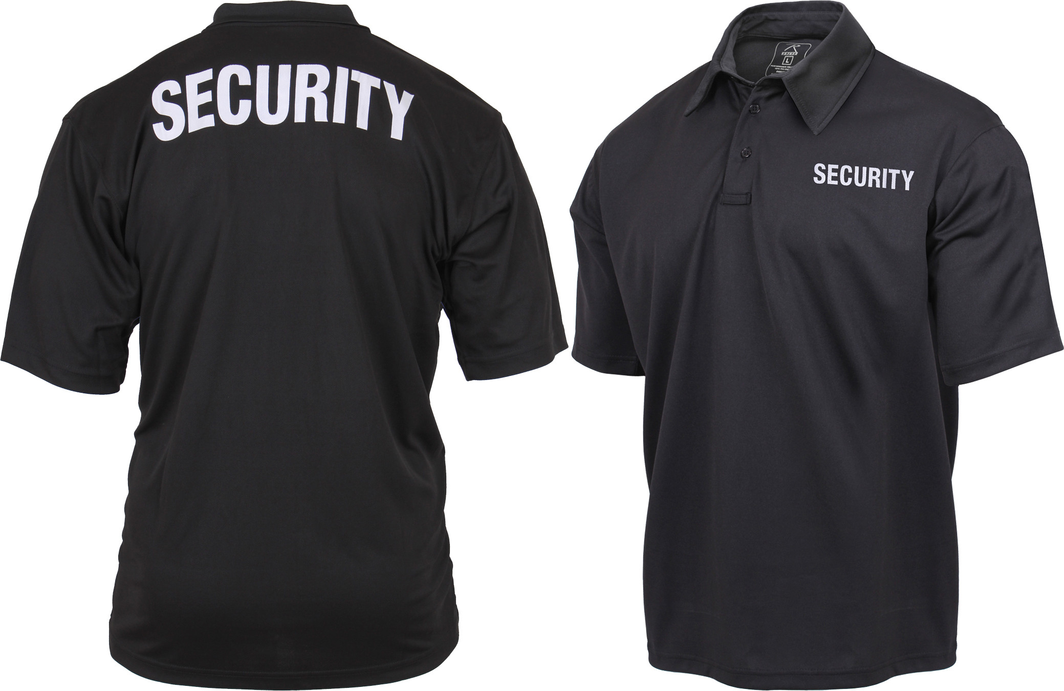 Moisture Wicking SECURITY Double Sided Polo Golf Shirt