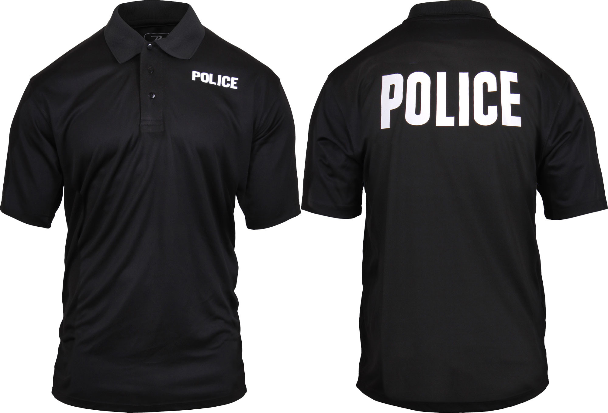 More Views. Black Moisture Wicking POLICE Polo Golf Shirt ... 262cef54475