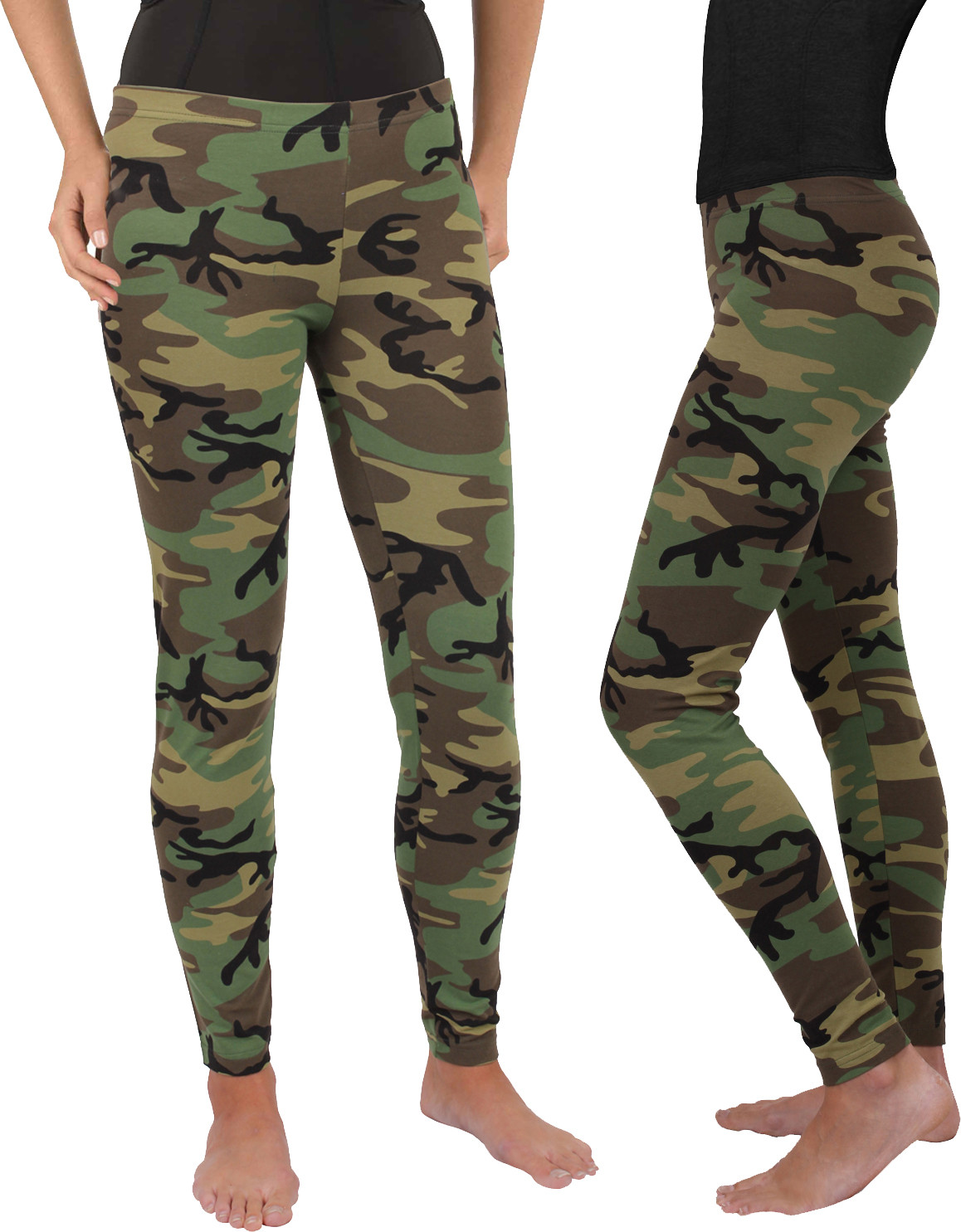 Women s Woodland Camouflage Military Spandex Leggings 2b6e3200fd9