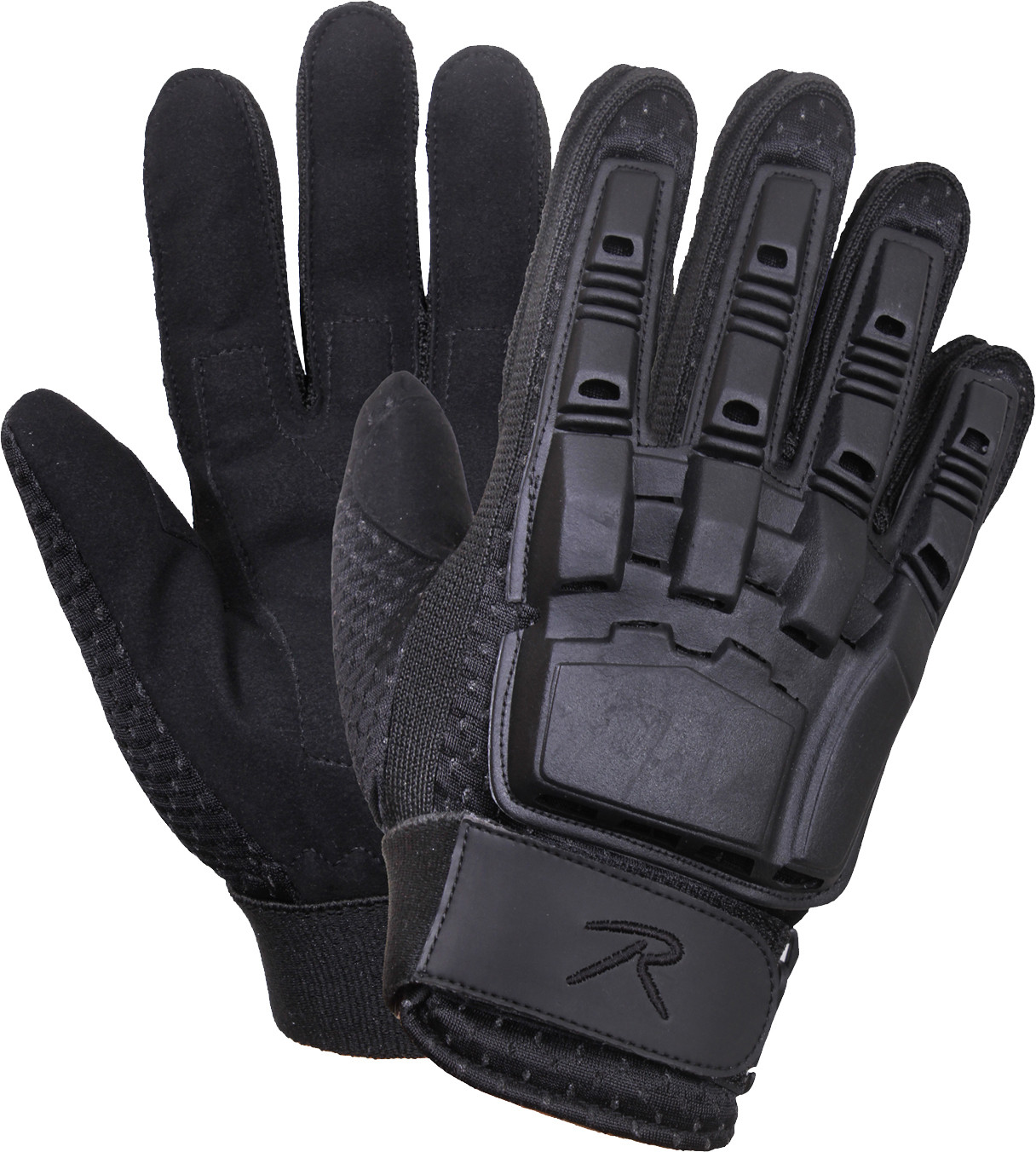 Black Military Armored Hard Back Tactical Duty Assault Gloves cad46977f34