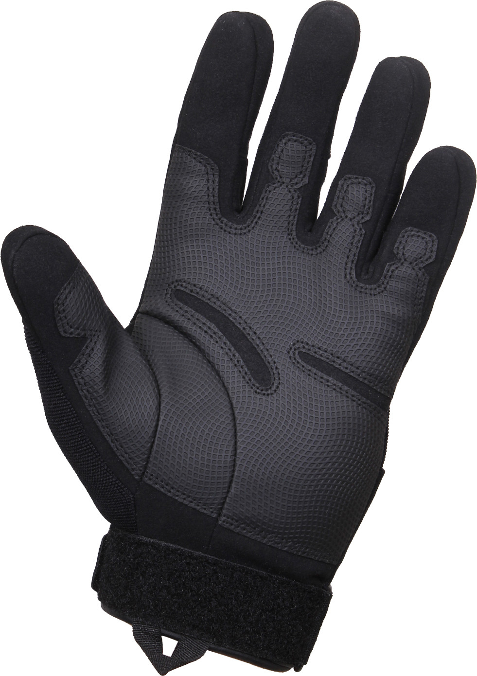 Black Military Padded Low Profile Tactical Shooting Gloves 3d0bc43d628