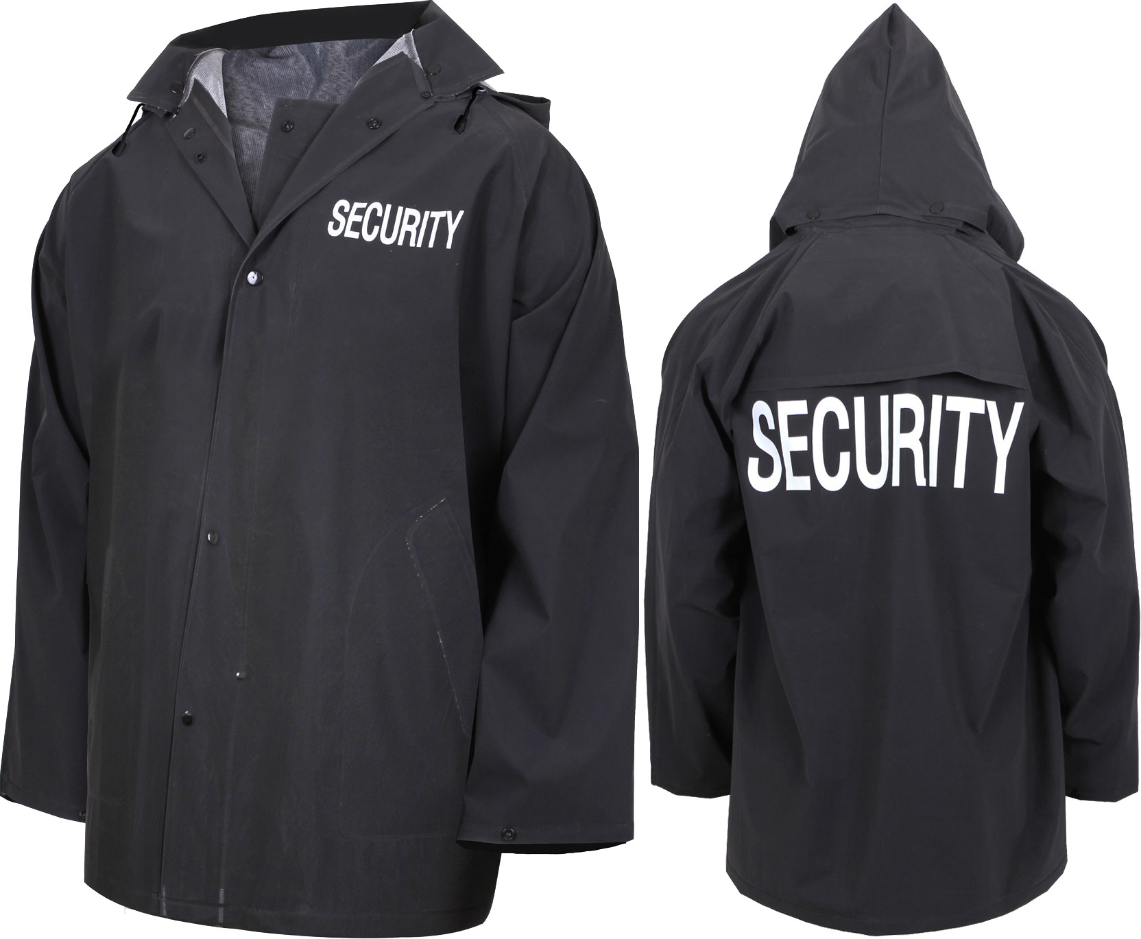 More Views. Black Double Sided Waterproof Security Rain Jacket ... 104fab926ce