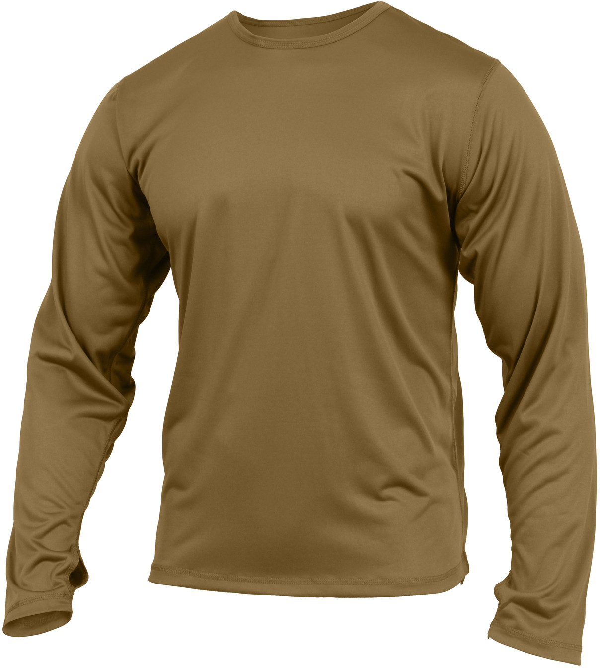 Coyote Brown Military Generation III ECWCS Silk Weight Thermal Shirt 611bc485224