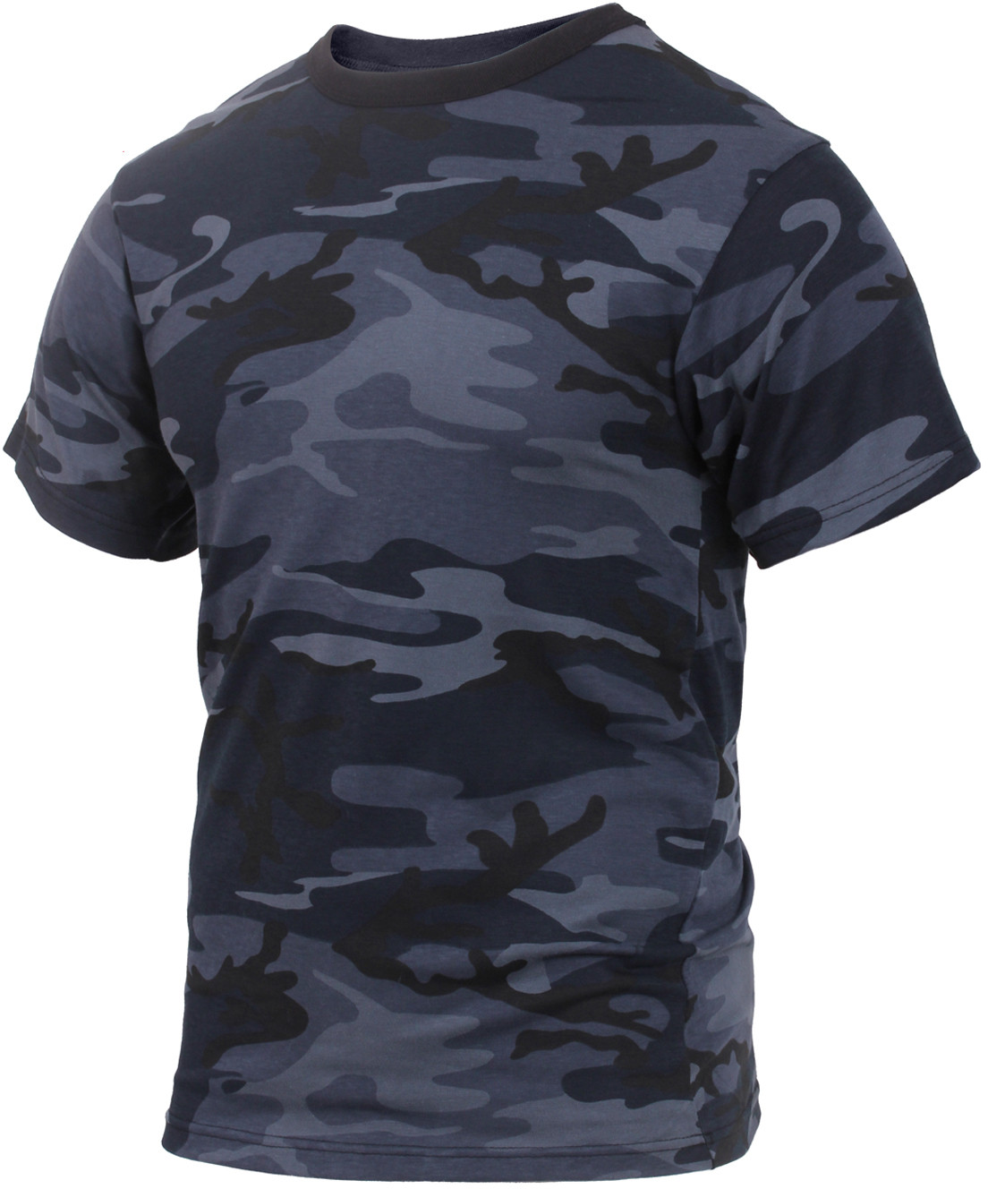 Midnight Blue Camouflage Military Short Sleeve T-Shirt 0f004d21a39