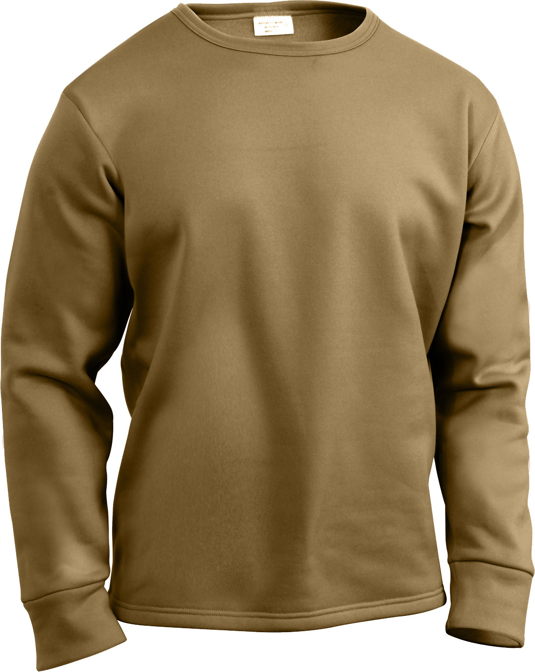 Coyote Brown ECWCS Cold Weather Crew Neck Shirt Thermal Top ... 6587cbd6a7f