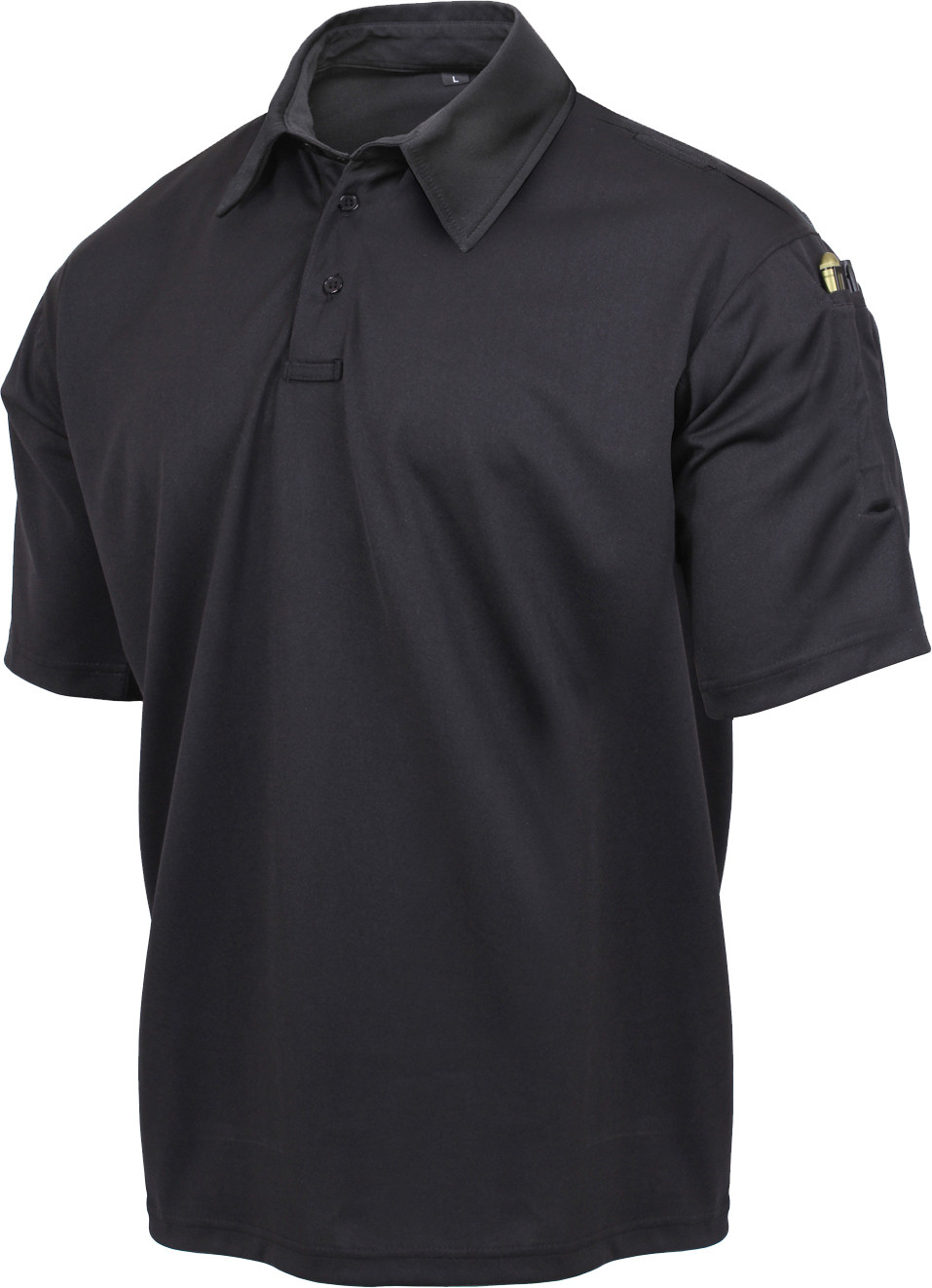 Black Moisture Wicking Tactical Performance Polo Shirt