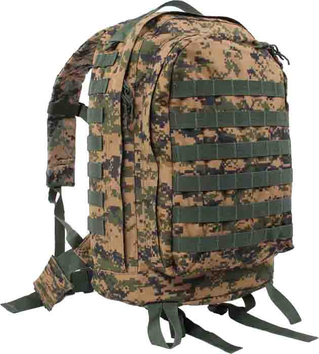 More Views. Woodland Digital Camouflage Military MOLLE II 3 Day Assault Pack  Backpack ... 8c7de812fd2