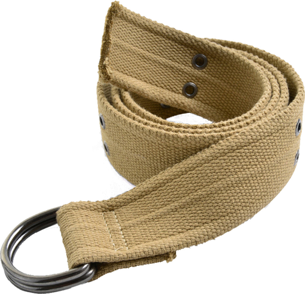 Khaki Heavy Duty Thick Military D-Ring Belt d07b1fabac5