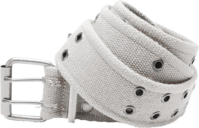 White Military Pistol Belt with Double Prong Buckle 9142f53a0d0