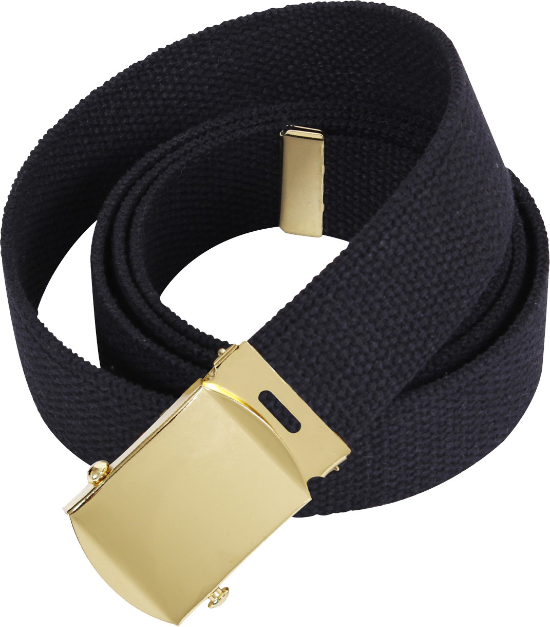 Black Military Web Belt with Brass Buckle d229be50742