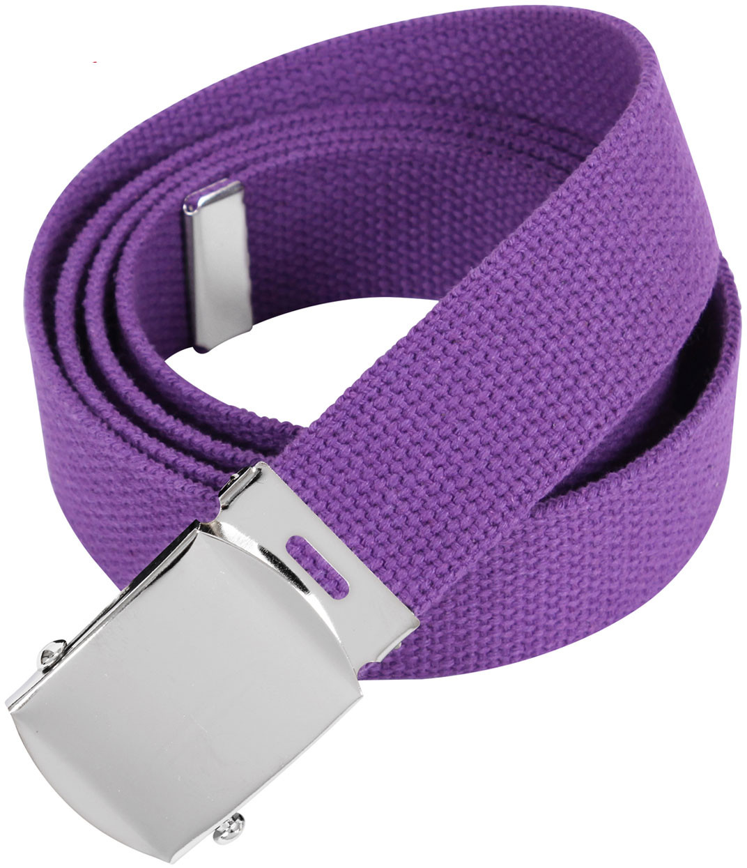 Purple Military Web Belt with Chrome Buckle (54