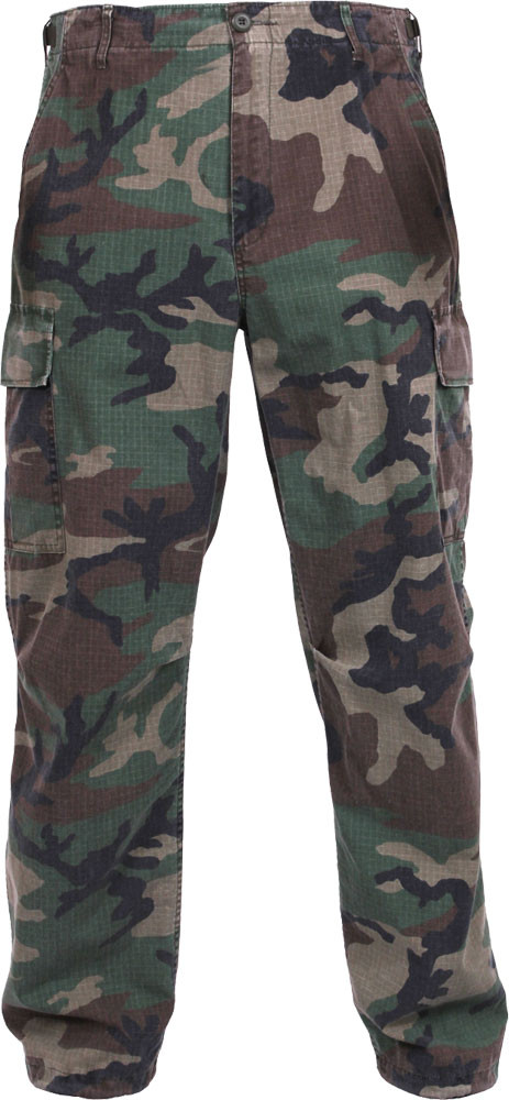 Woodland Camouflage Rip-Stop Vintage Vietnam Military Paratrooper BDU Pants 1938dc67f5a