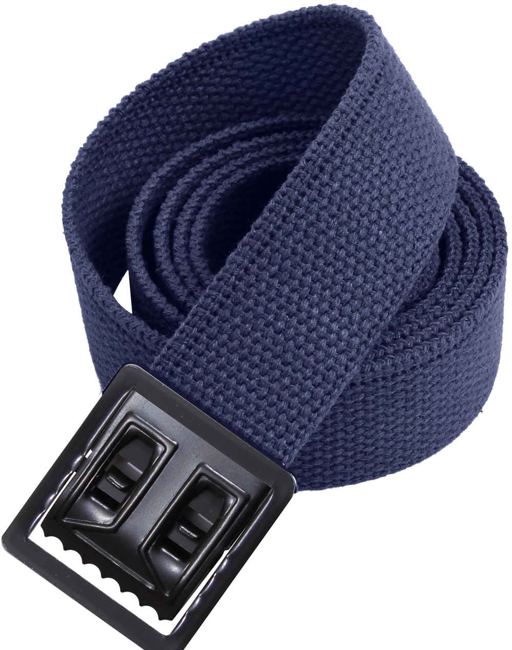 Navy Blue Military Cotton Web Belt   Black Open Face Buckle 89866d6d011