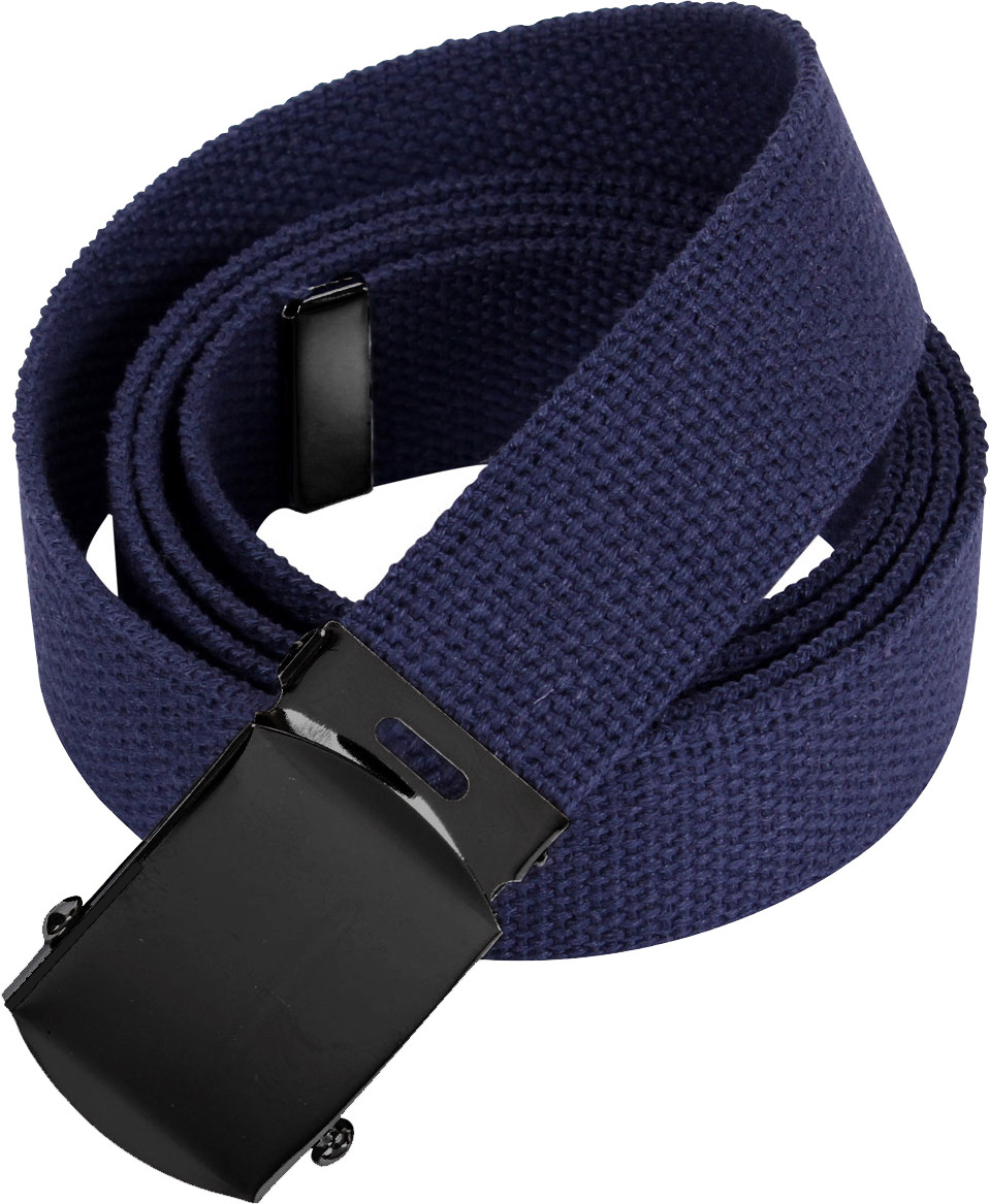 Navy Blue Military Web Belt with Black Buckle 565e0d46721