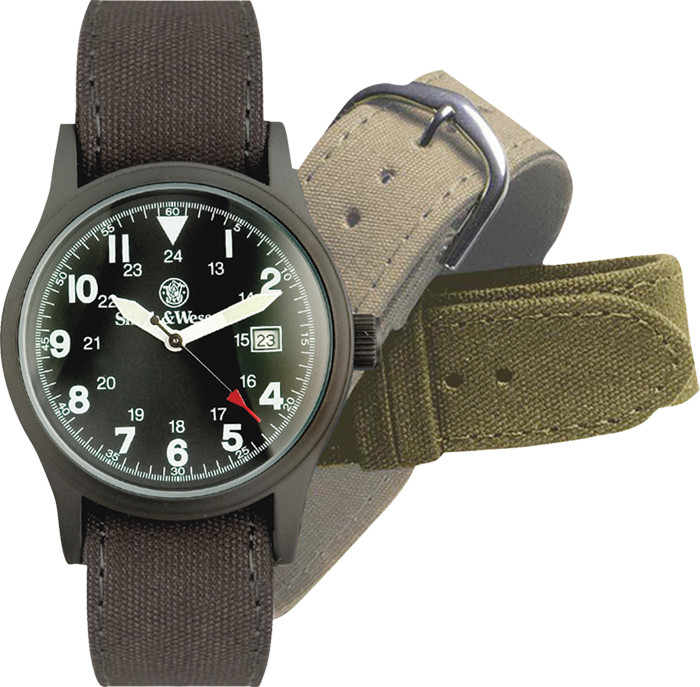 Black Military Smith   Wesson Tactical Water Resistant Watch Set 448a9f60f00