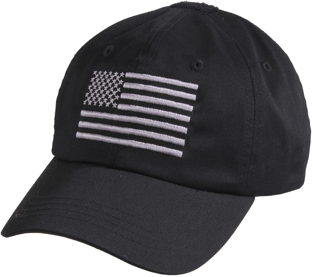 a9da0b62014 More Views. Black Military Embroidered US Flag Tactical Baseball Hat ...
