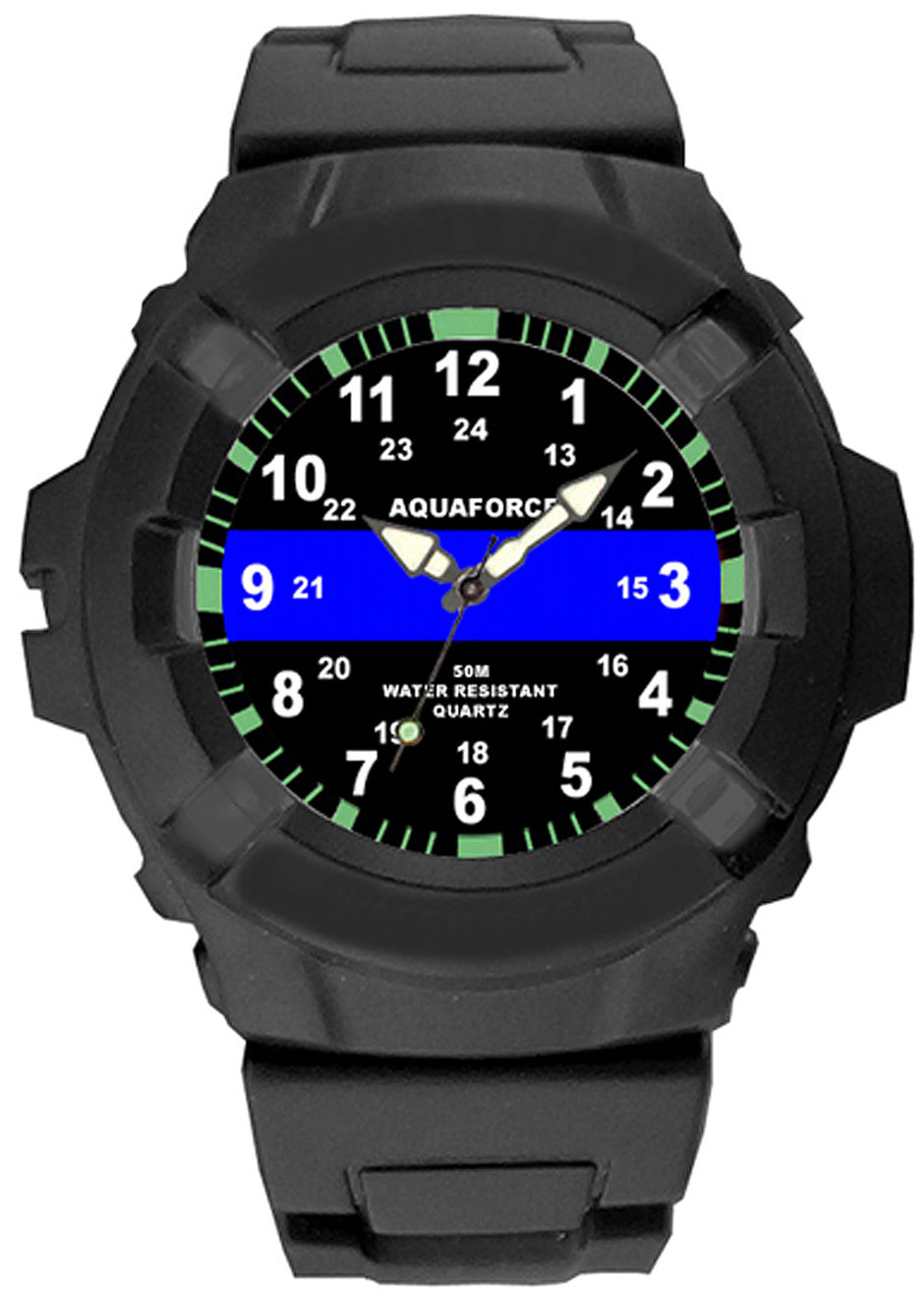 Aquaforce Thin Blue Line Water Resistant Watch ff59283d418