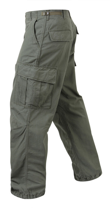 Olive Drab Vintage Vietnam Rip-Stop Military Fatigue Pants 13759958fb0
