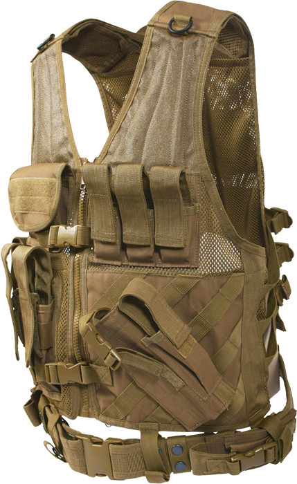 Coyote Brown Military Tactical Cross Draw Vest eda45cea6ff