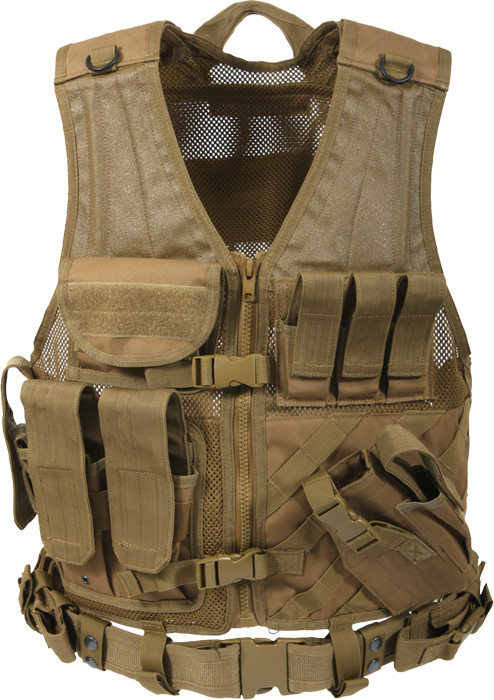 Coyote Brown Military Tactical Cross Draw Vest e3076d47f0d