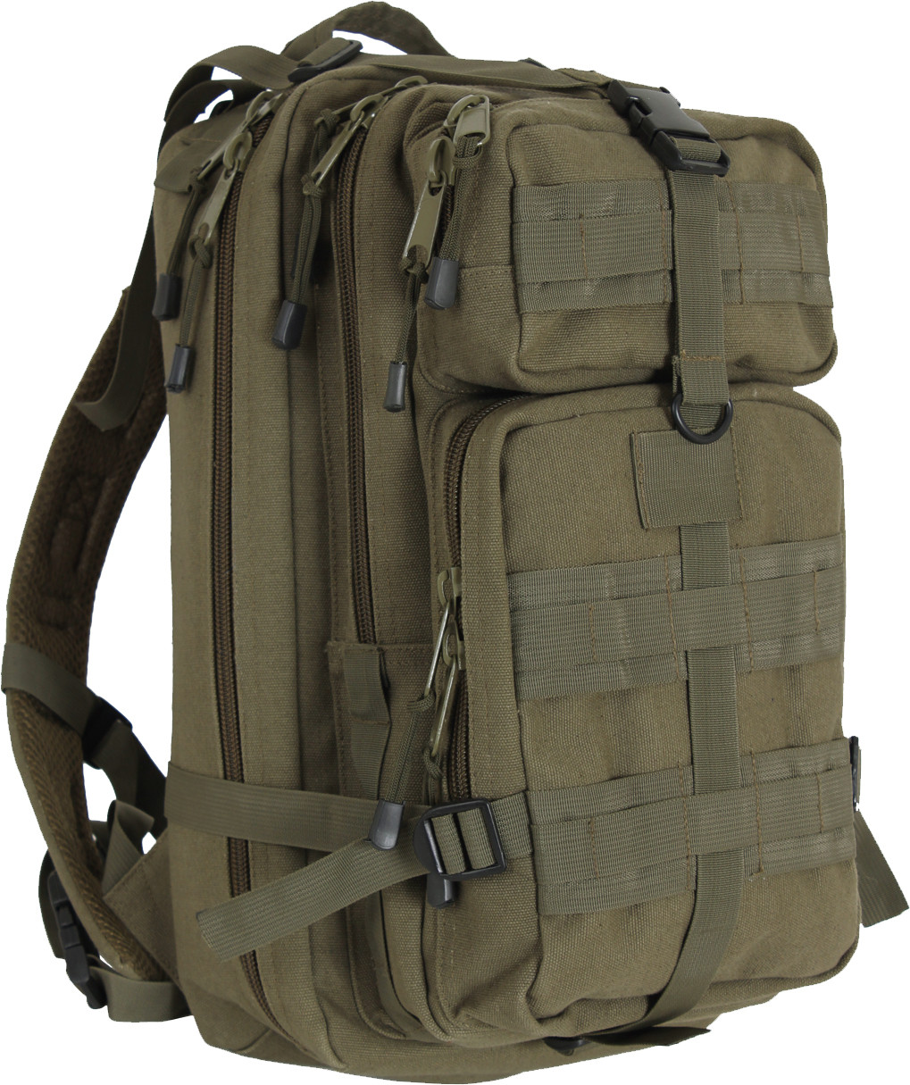 Olive Drab Military MOLLE Medium Transport Tactical Pack Backpack 460c7dd0db5
