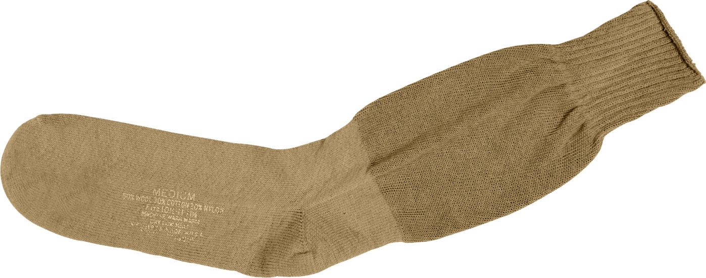Coyote Brown Cushion Sole Military Tactical Boot Socks Pair USA Made 9887d8785a4