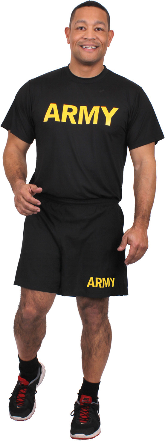 Black Physical Training Moisture Wicking Army Pt