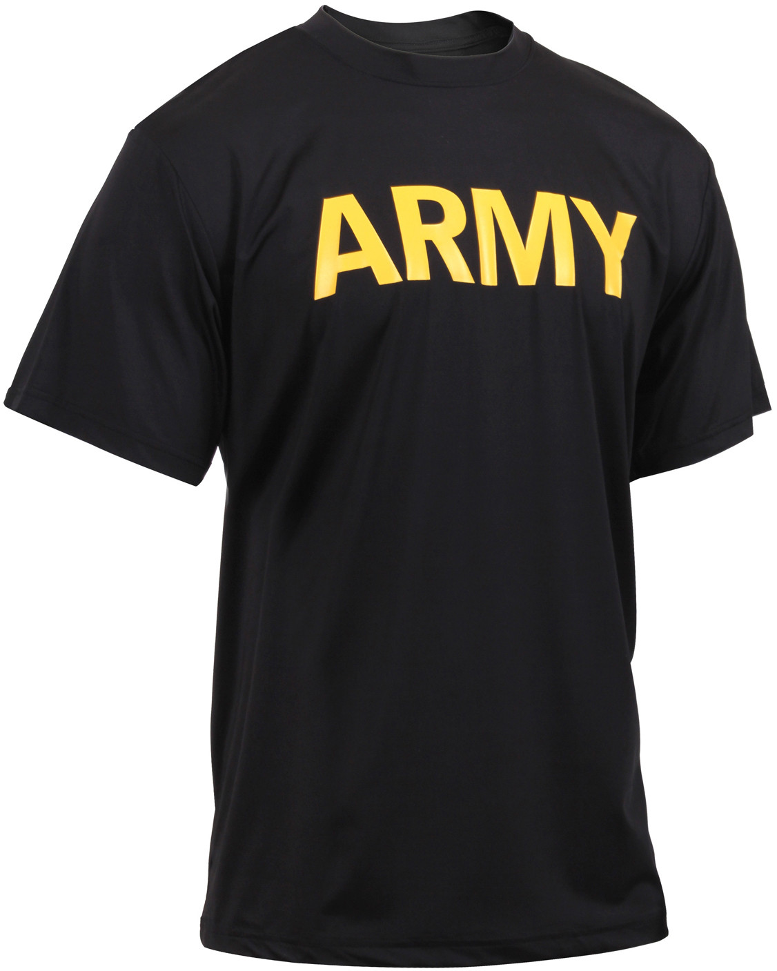 Black Physical Training Moisture Wicking ARMY PT Performance T-Shirt 664b6556147
