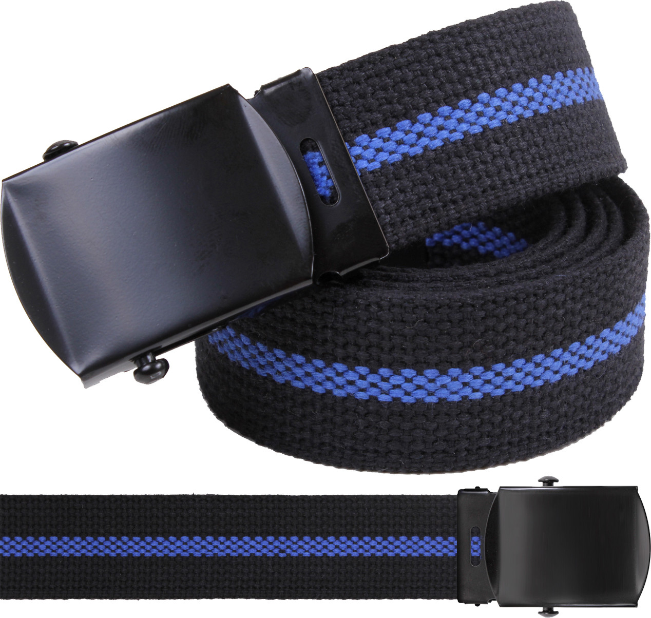 Black Thin Blue Line Support The Police Military Web Belt fc3d8d37d