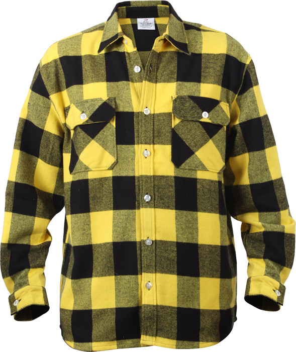 More Views. Yellow Extra Heavyweight Brawny Buffalo Plaid Flannel Shirt ... 02c41c2307c