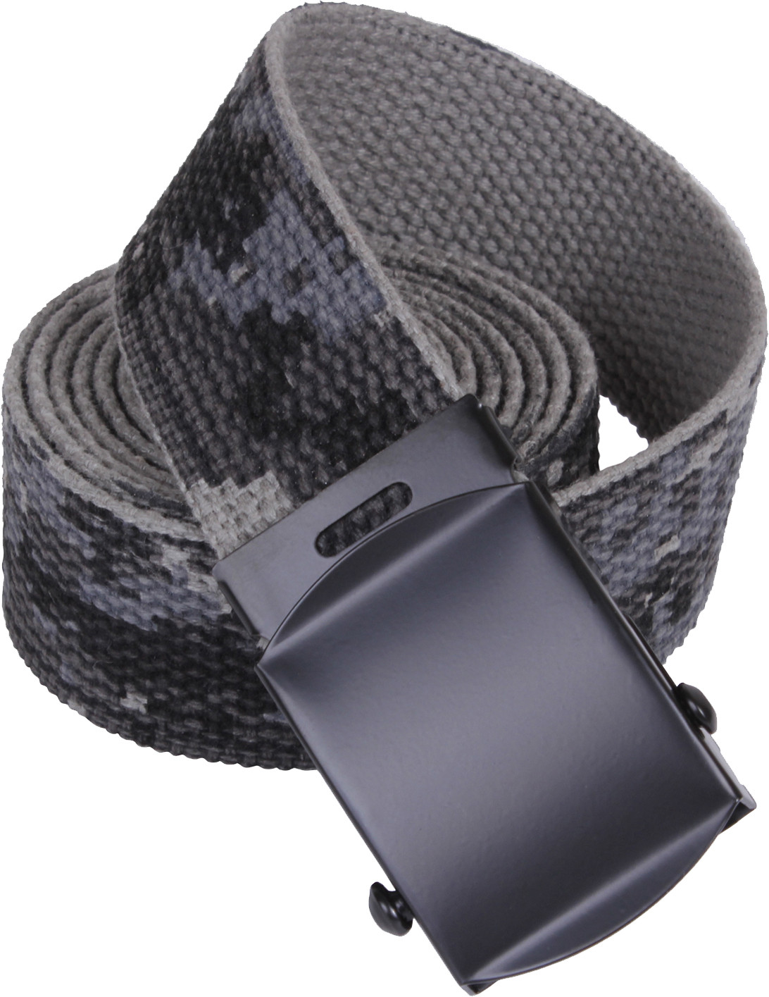 Subdued Urban Digital Camouflage Reversible Web Belt Black Buckle (54