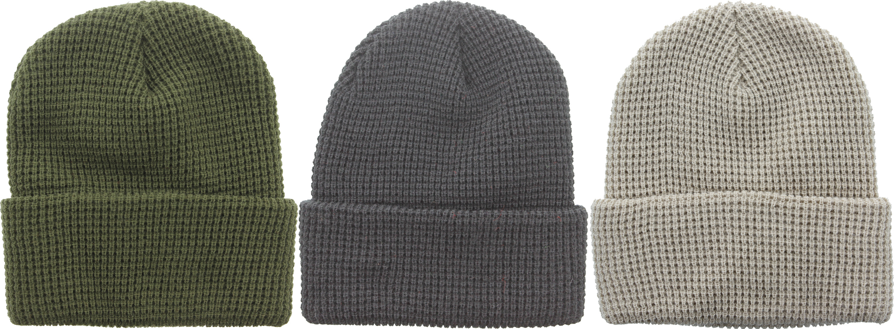 Waffle Knit Winter Cold Weather Acrylic Military Watch Cap Hat df9d8105f