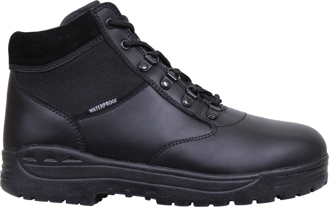 Black Waterproof Forced Entry Slip Resistant Mid Top