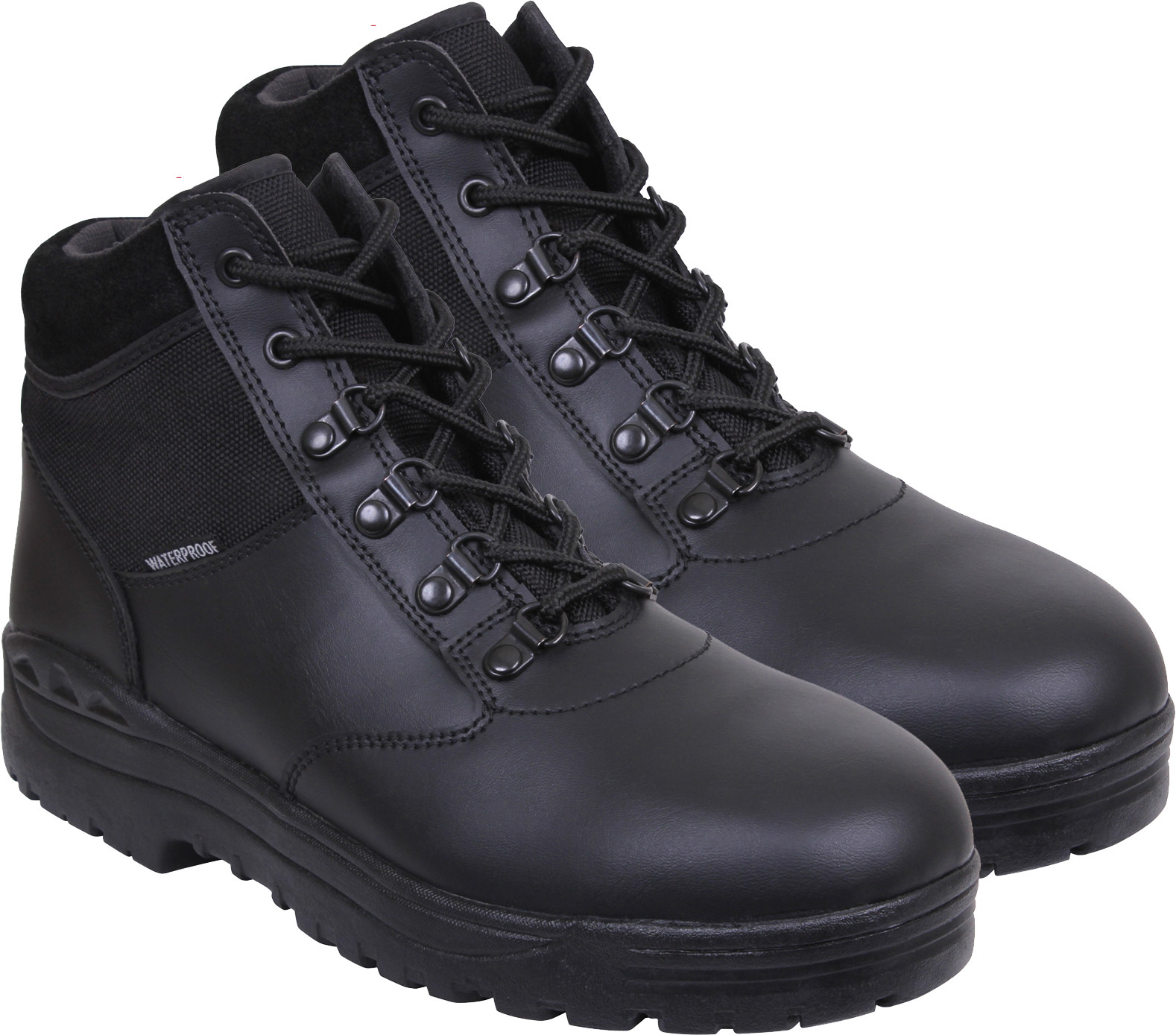 Black Waterproof Forced Entry Slip Resistant Mid Top Tactical Boots c679d27b78d