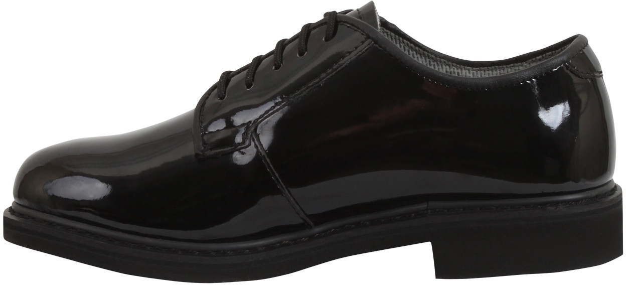 ... Black Hi-Gloss Shiny Lightweight Military Uniform Oxford Shoes ... 37be100b63e