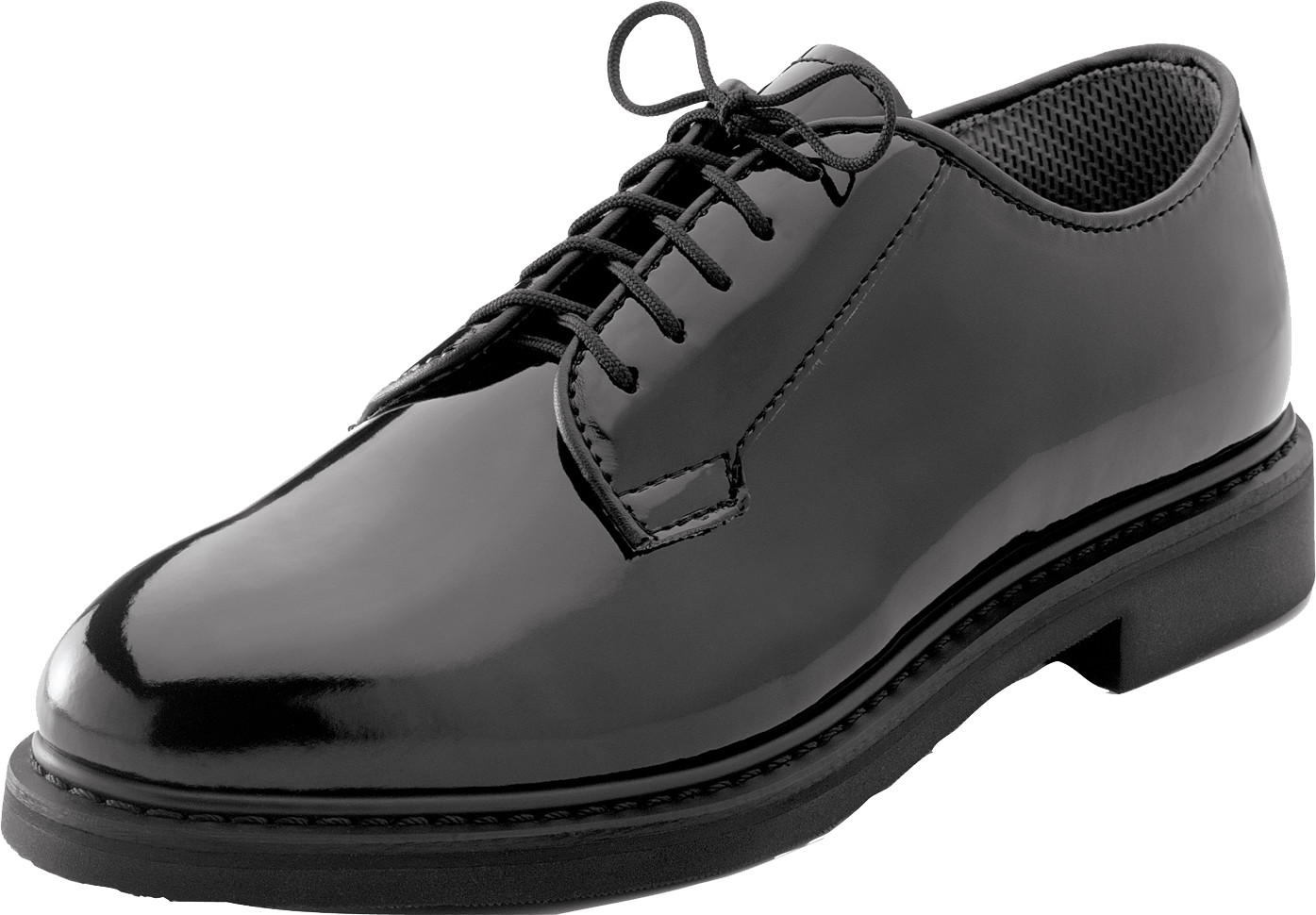 More Views. Black Hi-Gloss Shiny Lightweight Military Uniform Oxford Shoes  ... 08be2ca64ca