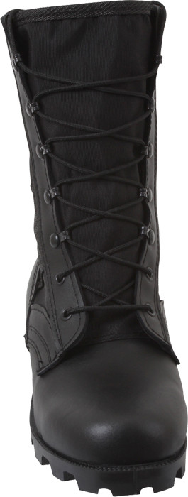 Black Military Speedlace Leather Jungle Boots 814316065a0