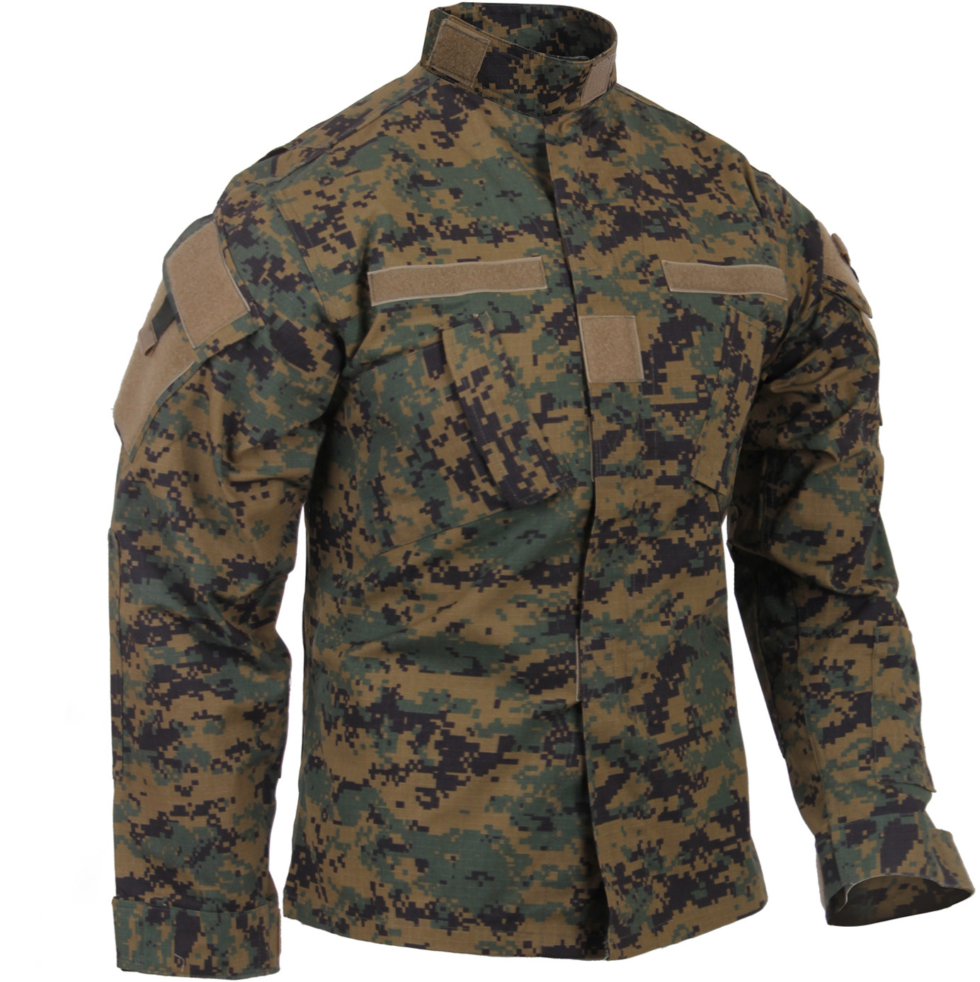 Woodland Digital Camouflage Combat Ready Tactical Military Uniform Shirt 10c89a870339
