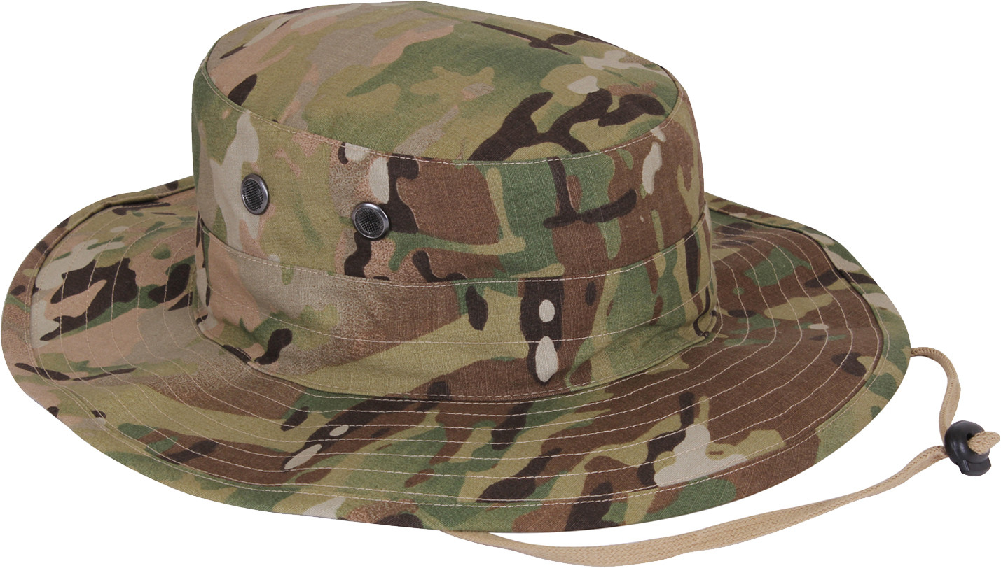 9380612cdeea9 MultiCam Military Adjustable Hunting Wide Brim Jungle Boonie Hat
