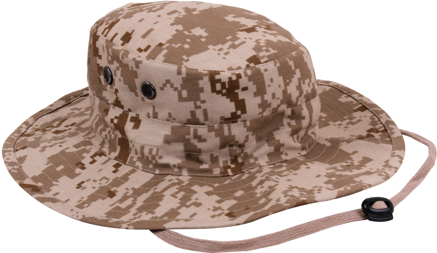 bfeb1ec076d More Views. Desert Digital Camouflage Military Adjustable Wide Brim Boonie  Hat