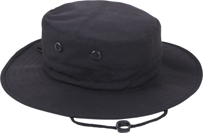 3570e8b371ced More Views. Black Military Adjustable Wide Brim Boonie Hat