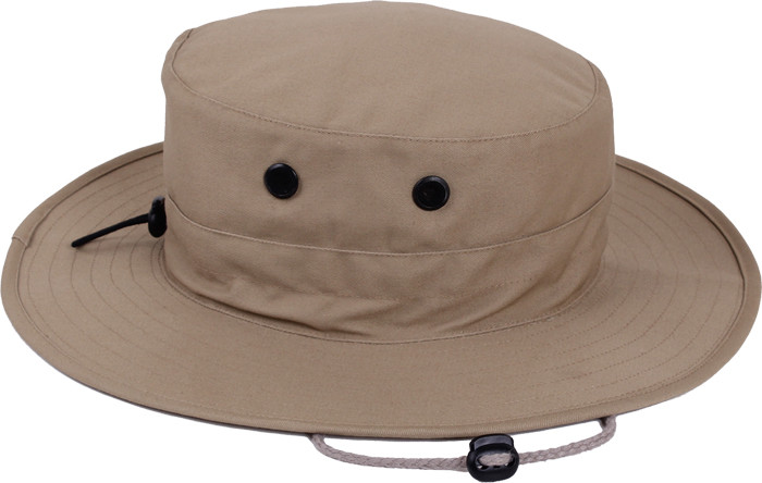 48170ebfff2 More Views. Khaki Military Adjustable Hunting Wide Brim Jungle Boonie Hat