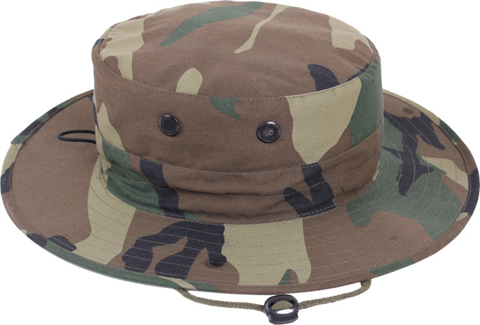 More Views. Woodland Camouflage Military Adjustable Hunting Wide Brim  Boonie Hat 796b1c7fd7c